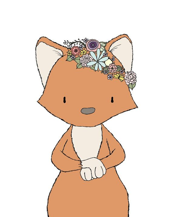 Fox Nursery Art :   You can CUSTOMIZE this print to any colors you choose, either from the color chart or a picture or link, just let me know