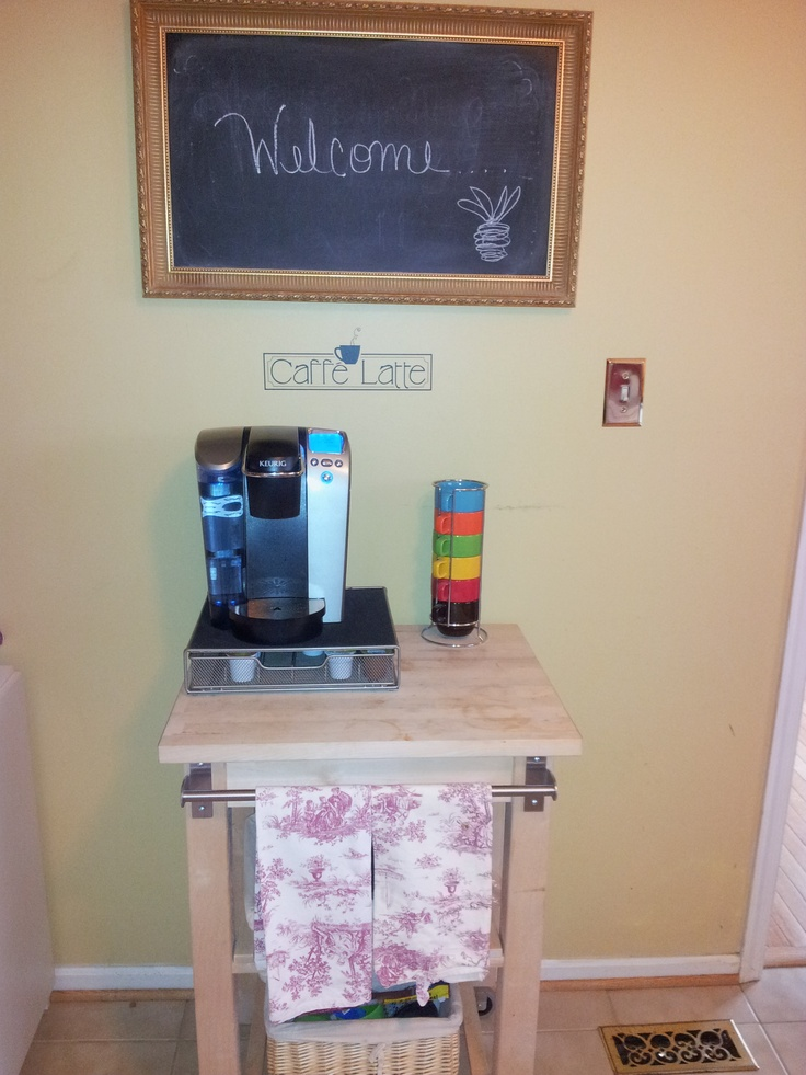 Keurig Coffee Cart For The Home Diy Kitchen Decor Chef