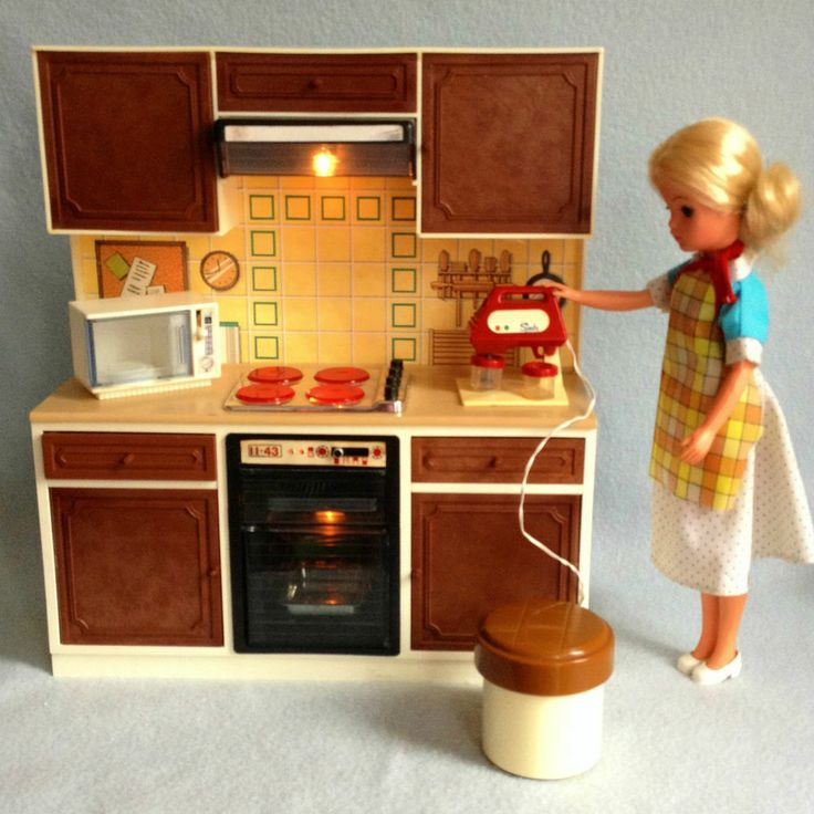 VINTAGE SINDY WORKING COOKER MIXER KITCHEN UNIT FOR SUPER HOME HOUSE MICROWAVE