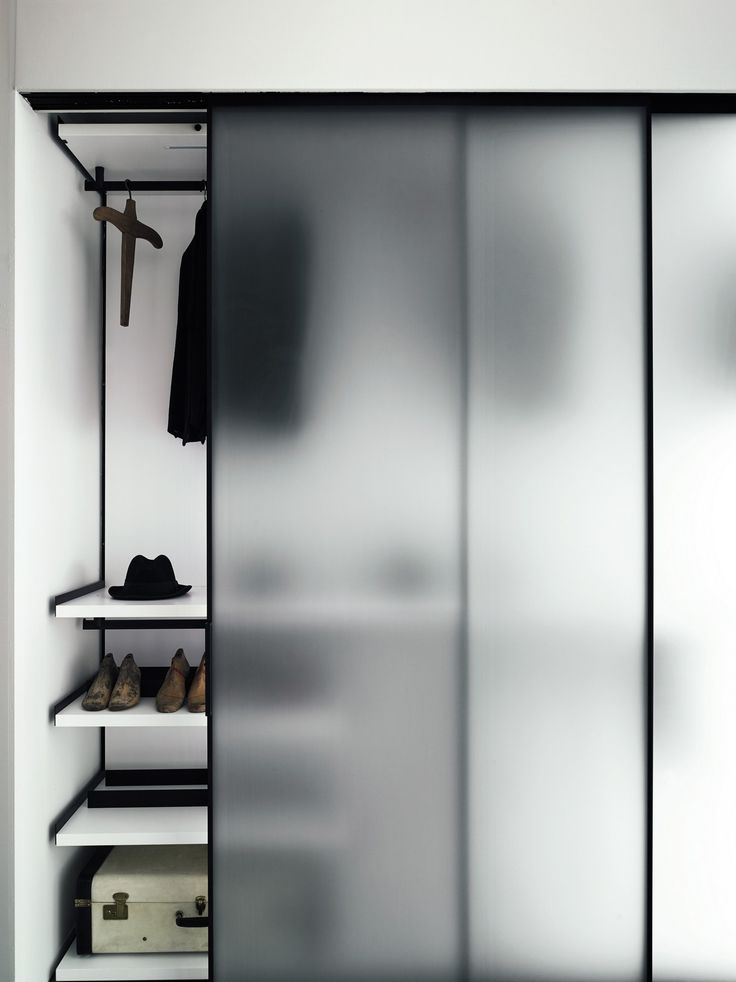 Tempered #glass partition wall GREENE - @boffispa #wardrobe                                                                                                                                                                                 More