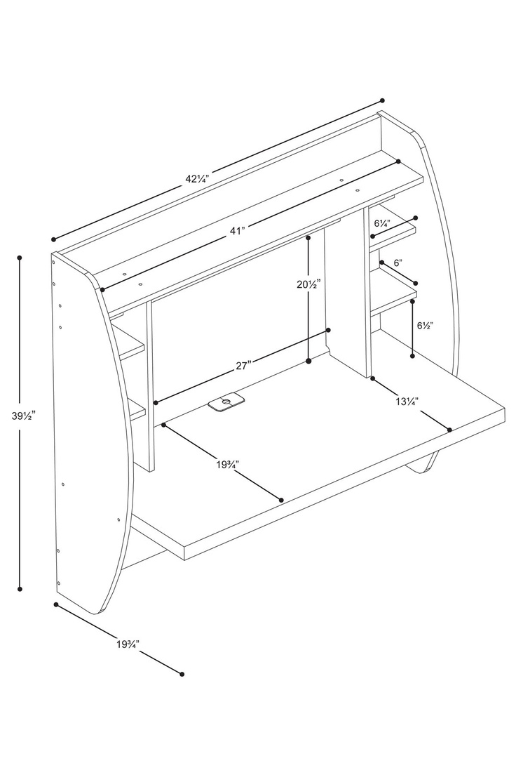 Floating Desk With Storage   Black On HauteLook