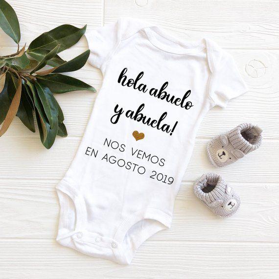 Hola Abuela and Abuelo baby adorable bodysuit Gerber onesie
