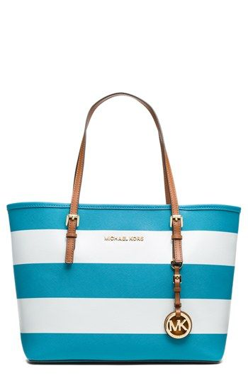 MICHAEL Michael Kors 'Jet Set - Small' Saffiano Leather Travel Tote available at #Nordstrom  LOVE THIS!!!