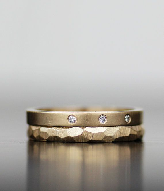 14K gold alternative engagement ring modern unique by lolide