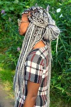 gray box braids                                                       …