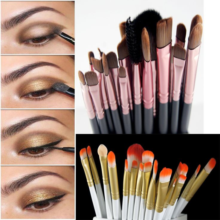 Professional 20Pcs Makeup Brushes Hand To Makeup Brushes Cosmtic Set kit Powder Foundation Eyeshadow Eyeliner Lip Brush Palette