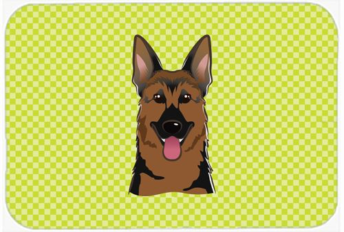 Checkerboard Lime Green German Shepherd Mouse Pad - Hot Pad or Trivet BB1273MP #artwork #artworks
