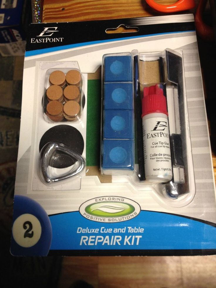 POOL & BILLIARD TABLE & CUE STICK REPAIR KIT NEW IN PACK #eastpoint