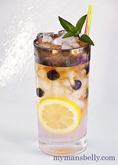 Nothing refreshes like a glass of fresh homemade lemonade. But adding blueberries and topping it with spiced rum makes it the perfect summer rum drink.