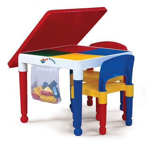 Tot Tutors Kids Building Table For Lego Mega Blocks 2