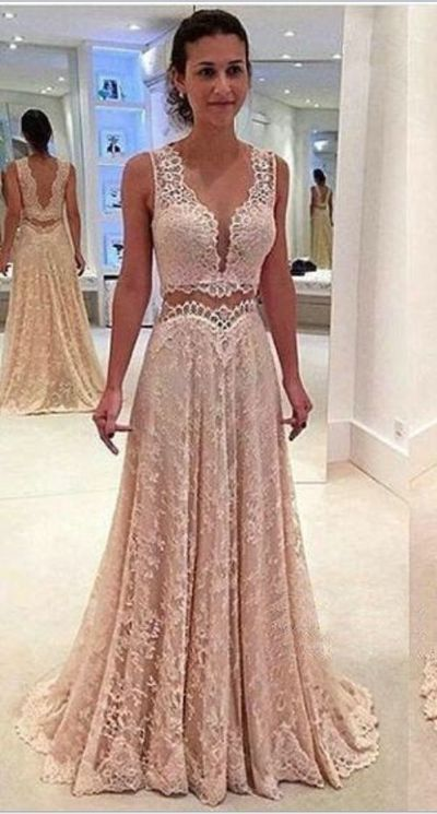 Deep V Neck Prom Dress ee396c0cae1d