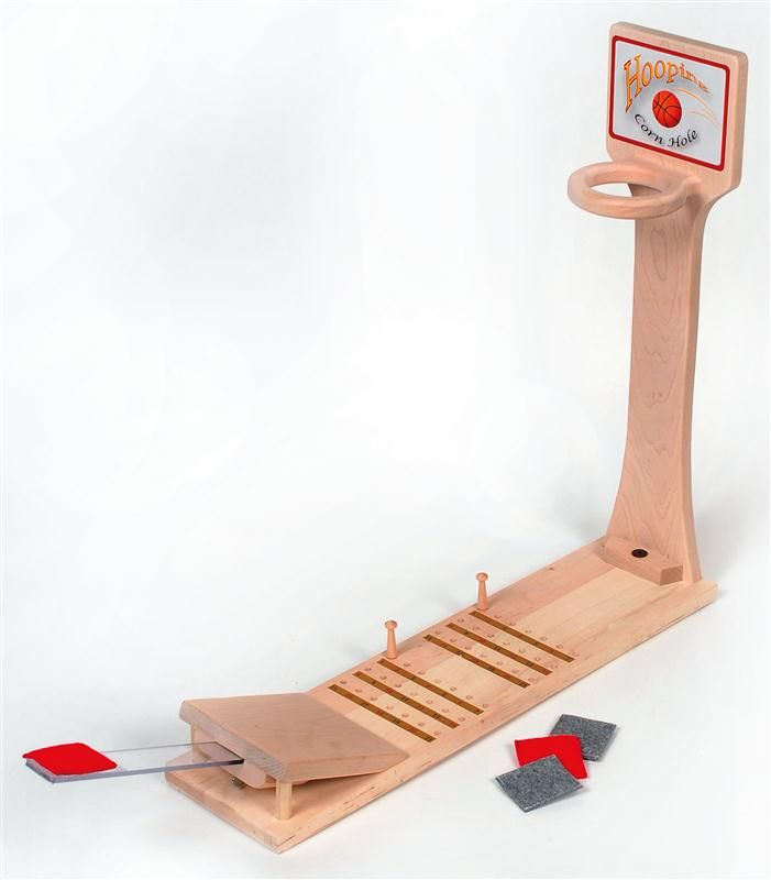 Children will love this Hooping Corn Hole Game