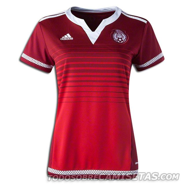 Mexico 2015 Women's World Cup adidas Away Jersey Red | Ropa ...
