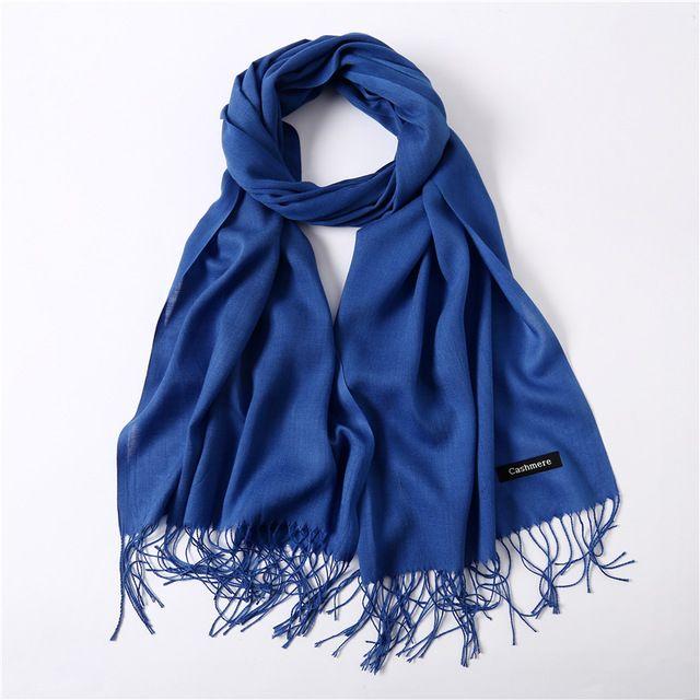 Fashion Women Girl Warm Soft Cashmere Silk Solid Long Pashmina Shawl Wrap Scarf