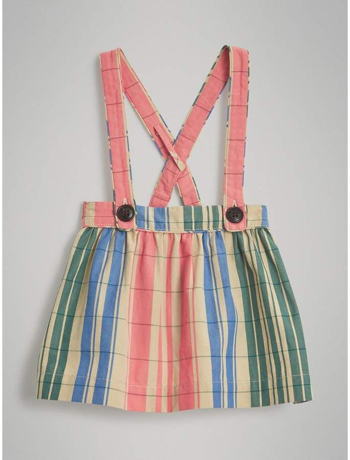 77480884b44 Burberry Check Gathered Cotton Pinafore Skirt