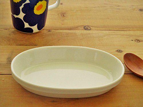Amazon.co.jp: スタックグラタン皿18.7cm【白い食器 アウトレット 美濃焼 オーブンOK グラタン ドリア 耐熱 オーバル 楕円重なる】: ホーム&キッチン