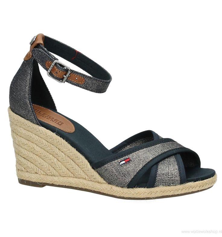 Top Mode Blauwe Sandalen met Sleehak Tommy Hilfiger Lala - Damesschoenen Voor Verkoops