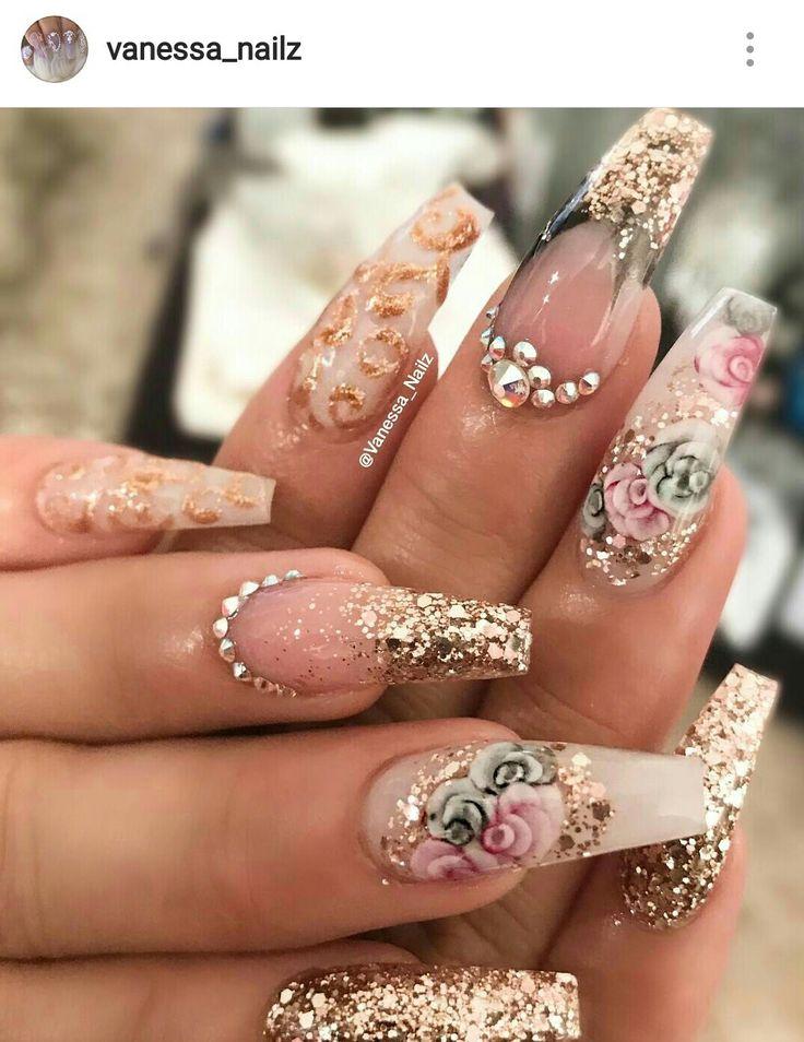 2184 best Floral Nails images on Pinterest | Nail scissors ...