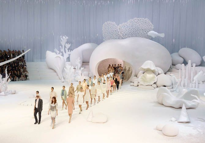 Chanel creates the coolest settings for their fashion shows.