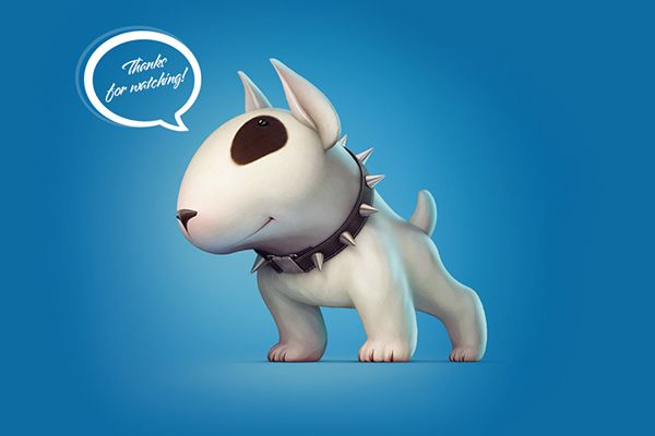 Bull Terrier on Behance ★ Find more at http://www.pinterest.com/competing