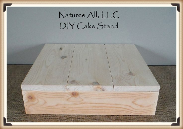 """14"""" DIY Rustic Wedding Cake Stand/Country Wedding Cake Stand/Unfinished -Natural Wood/Shipping Included/Item# UCS-1014"""