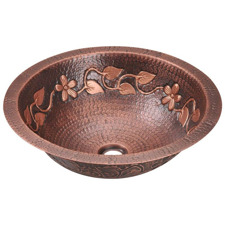 Pics Of Polaris Sinks P Single Bowl Copper Bathroom Sink Overstock Shopping Great Deals