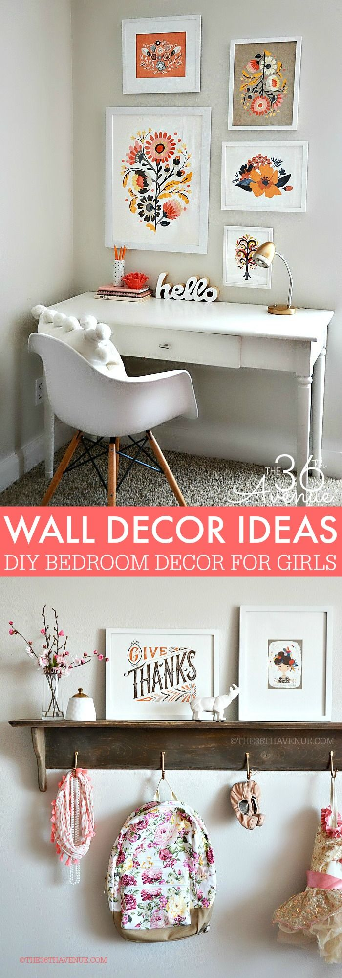 Wall Decor Ideas For Bedroom best 25+ girl wall decor ideas on pinterest | girls room paint