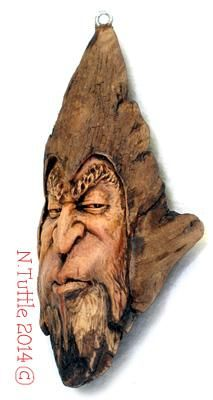 """""""I Think Knot""""     5 inches tall and just over 2 inches wide.  Signed and dated:   N. Tuttle 12/19/14"""