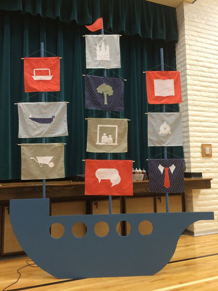 Embark. 2015 LDS Youth Theme. We created the logo ship. It turned out awesome! The sails are reversible with the YW values. Young Women New Beginnings.