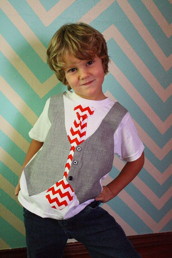 boys Valentine's day shirt, Valentine chevron tie shirt, Sibling Christmas outfit. 35.00, via Etsy.