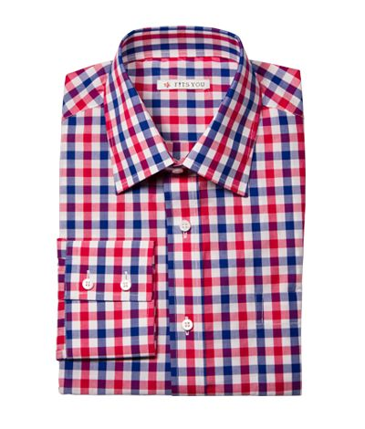 Shirt Finnis Blue Red And White Checked Shirt With Two