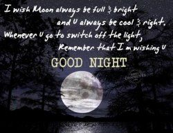When I say a sweet good night