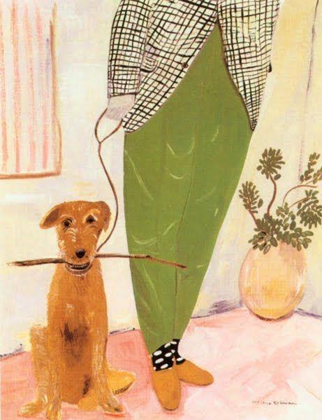 Maira Kalman: Art Illustrations, Pet Portraits, Irish Terriers, Dogs Art, Cute Pet, Maira Word, Dogs Illustrations Art, Mairakalman, Green Pants