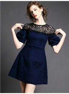 欧美セレブ愛用新品 ファッション大物レースつきセクシーなデートワンピース