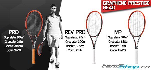 TeniSShop.ro iti prezinta cele mai noi rachete tenis Head cu cele mai noi tehnologii folosite in stabilirea unui raport de putere/control  in functie de stilul de joc.