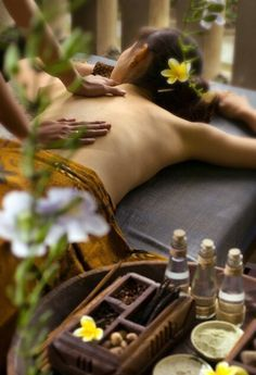 Massage with aromatherapy oils