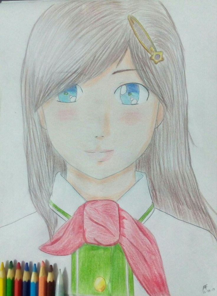 Dibujo anime a color