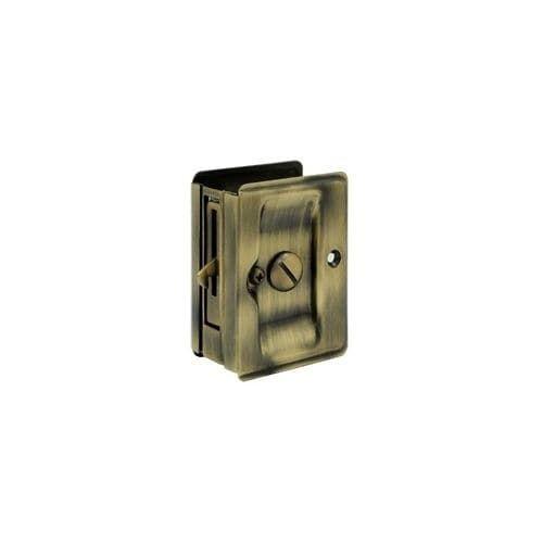 Deltana SDLA325 3-1/4 Inch x 2-1/4 Inch Solid Brass Heavy Duty Adjustable Pocket Door Privacy Lock (