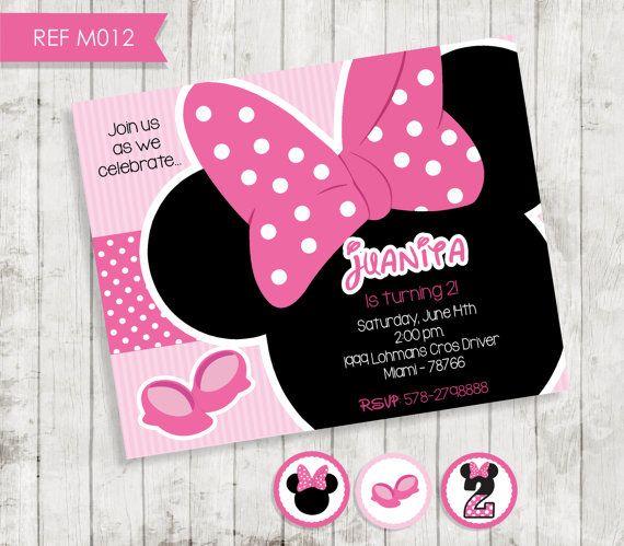 Minnie Mouse Birthday Invitation  Party por CreativaDesignCo