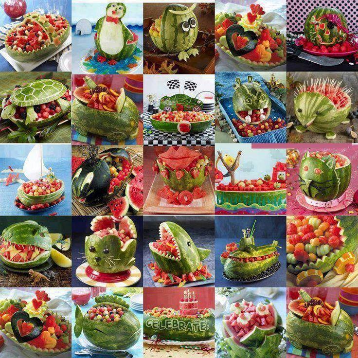 Watermelon carvings wonderful ideas pinterest