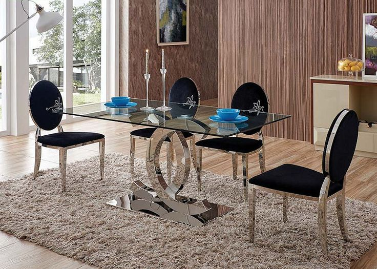 Contemporary Glass Top Dining Table Luxurious bedrooms