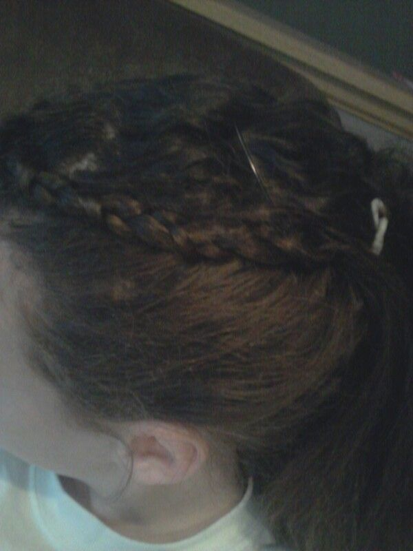 If u want a lazy day hairstyle put it in a braid and sucure it with a bobby pin. What a great...