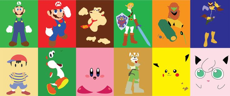 Super Smash Bros Minimalist Picture
