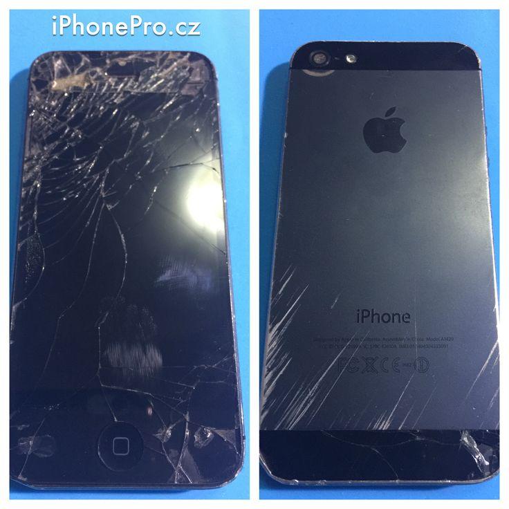 Rozbitý iPhone 5 / Destroyed iPhone 5