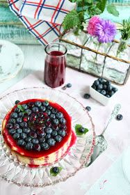 Angie's Recipes . Taste Of Home: Crustless Protein Quark Cheesecake with Blueberry Sauce