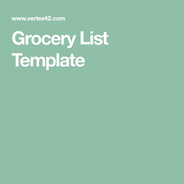 The 25+ best Grocery list templates ideas on Pinterest Recipe - grocery templates free