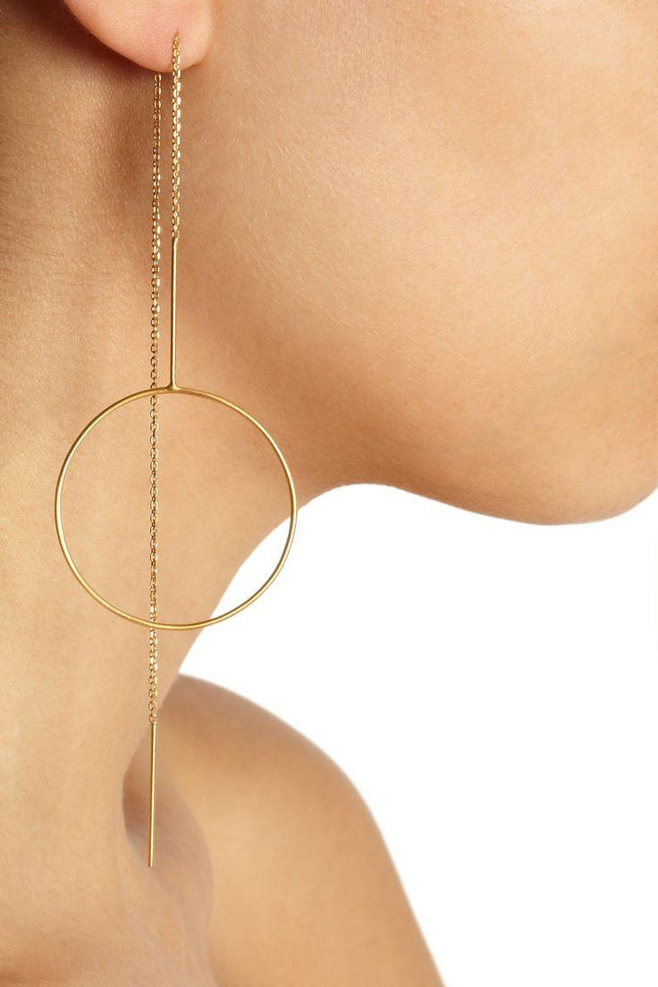 Maria Black | Monocle gold-plated earrings | NET-A-PORTER.COM