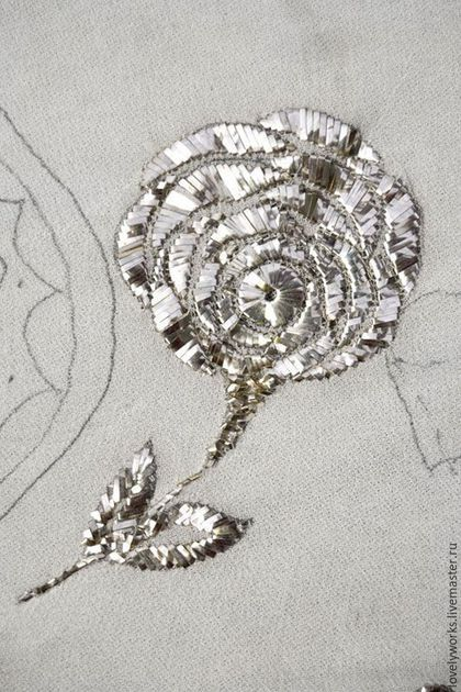 Вышивка ручной работы. Металлические полоски для вышивки, металлическая тесьма, 1 мм, серебро. Lovelyworks. Ярмарка Мастеров. Золотое шитье