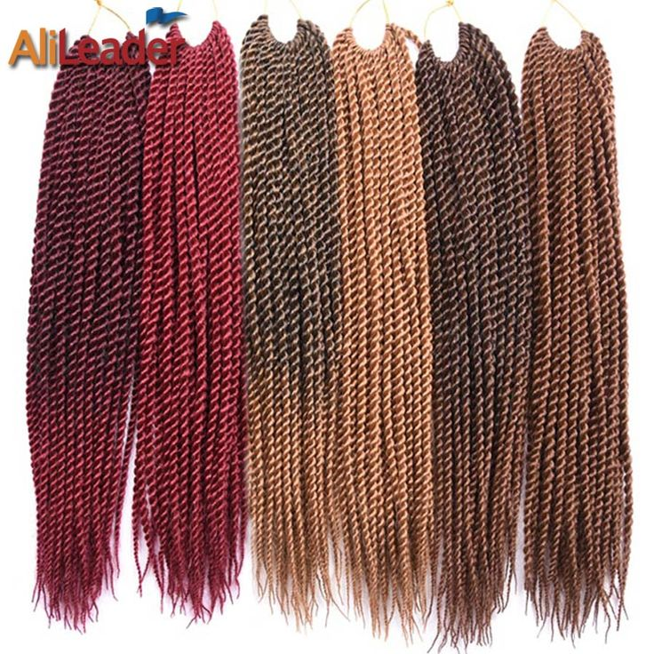 "AliLeader Products Pre Twist Crochet Hair Extensions 7 Packs Ombre Kanekalon Crochet Braids Senegalese Twist Hair 18"" 30Strands-in Braiding Hair Extensions from Hair Extensions & Wigs on Aliexpress.com 