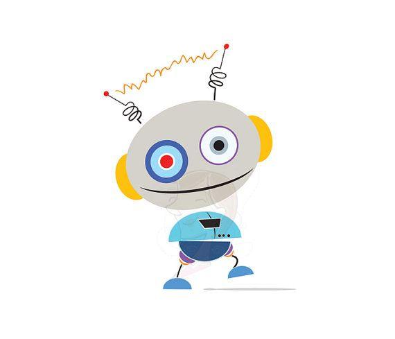 cute robot clipart - photo #32